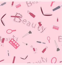 Makeup cosmetics pattern for beauties vector