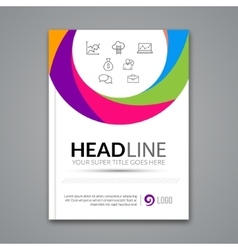 Poster flyer design template abstract vector