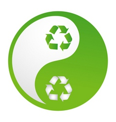 recycle yin yang vector image