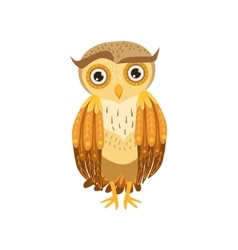 Sceptic Owl Cute Cartoon Character Emoji With vector image