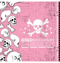 skulls and bones vector image