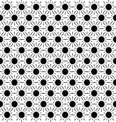 Sun seamless pattern abstract background vector image vector image