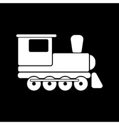 The train icon Travel symbol Flat vector image