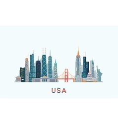 USA skyline vector image