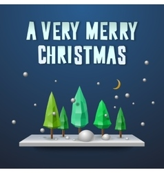 Very Merry Christmas greeting card vector image