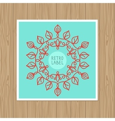 vintage greeting card with outline frame vector image vector image