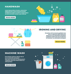 Washing and drying clothes laundry service vector