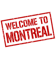 welcome to montreal stamp vector image