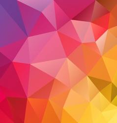 Yellow red spectrum polygon triangular pattern vector