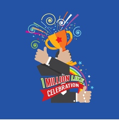 1 million likes celebration vector