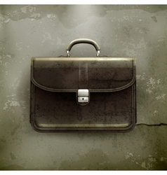 Brief case old-style vector