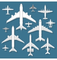 Airplane top view vector