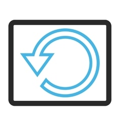 Rotate framed icon vector