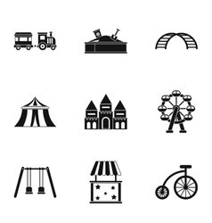 Swing icons set simple style vector image