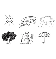 Different kinds of weather vector image