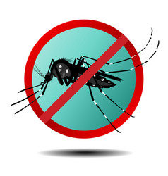 Anti mosquito sign flat icon vector