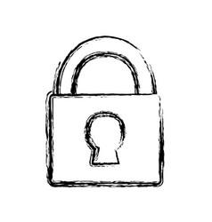 Security padlock icon image vector