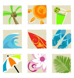 Summer graphics vector