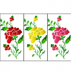 flower pattern vertical rose tattoo vector image