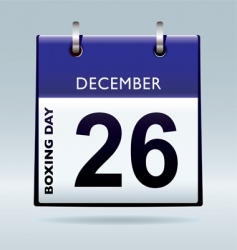 Boxing day calendar blue vector