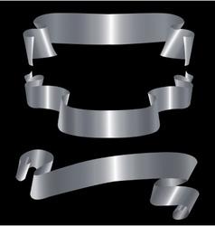 Silver ribbons vector