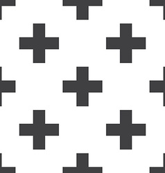 Plus seamless pattern vector