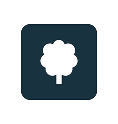 Tree icon rounded squares button vector