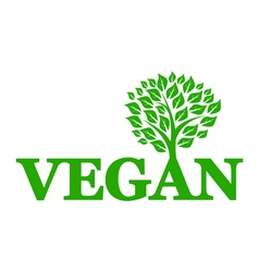 Symbol of vegetarianism vector