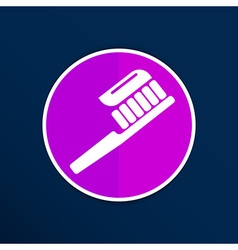 Toothbrush with paste brush icon isolated human vector