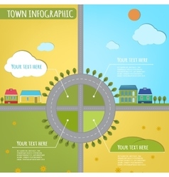 Town infographics vector