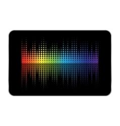 tablet equalizer vector image