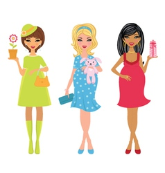 elegant moms-to-be vector image