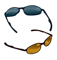 Two pairs of sunglasses vector