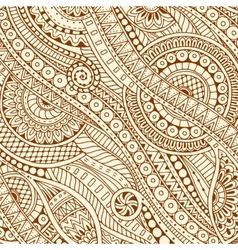 Hand drawn tribal ethnic pattern doodle vector