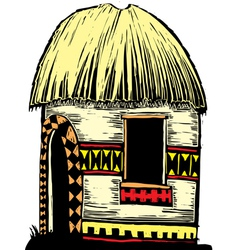 African hut vector image vector image
