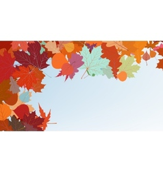 Autumn colorful background EPS 8 vector image