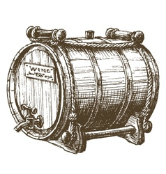 barrel of wine logo design template beer vector image