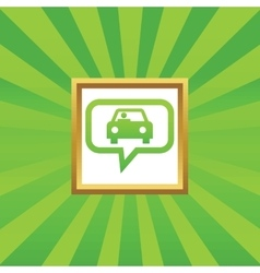 Car message picture icon vector