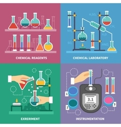 Chemical laboratory concept vector