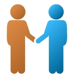 Children handshake gradient icon vector