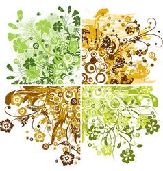 Floral grunge backgrounds vector