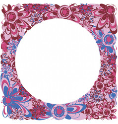 frame of flowers vector image