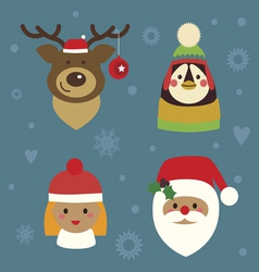 Holiday charactes set vector image