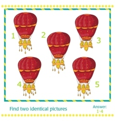 hot air balloons - game for children vector image vector image