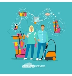 House cleaning service concept vector