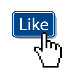 like icon mouse cursor pressing like button vector image vector image
