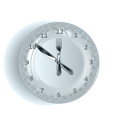 lunch time vector image vector image