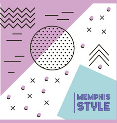 memphis style pattern geometric shapes abstract vector image