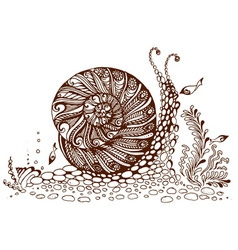 Painted snail vector image vector image