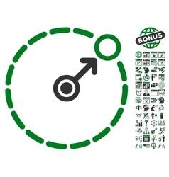 Round area border icon with bonus vector
